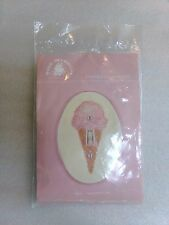 Fond Memories Counted Cross-Stitch PINK Ice-Cream Switch Plate Cover Craft Gift