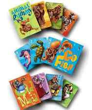 MELISSA AND DOUG Classic Children's Card Game Set OLD MAID GO FISH ANIMAL RUMMY