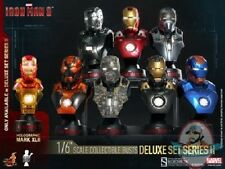 1/6 Iron Man 3 Series 2 Deluxe Set of 8 Collectible Bust Hot Toys