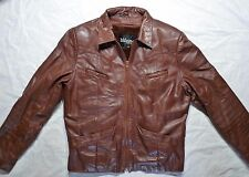 Women's Vintage Wilson's Brown-Red Leather Jacket with Liner- Size 6/8