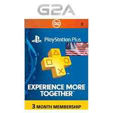 PSN Live Card Plus 90 Tage (Sony) nur für US Playstation Plus Key für 3 Monate