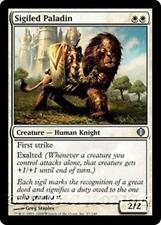 SIGILED PALADIN Shards of Alara MTG White Creature — Human Knight Unc