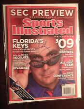 Urban Meyer Autographed Sports Illustrated SI SEC Preview 7/29/09 Florida Gators