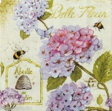 cYPRESS hOME Set of 40 Cocktail Beverage Paper Napkins - Hydrangea Bees