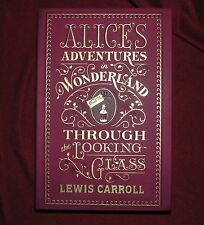 Alice In Wonderland & Through the Looking-Glass by Lewis Carroll Gilded Cover!