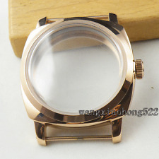 47mm Rose Gold plated vintage Watch ClassicCASE fit 6498 6497 movement C040