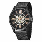Stuhrling 747M 03 Men's Elite Automatic Skeleton Stainless Steel Mesh Watch