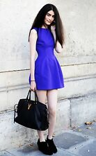 Rare! ZARA Blue Purple Structured Tulip Dress Prom Wedding Party Small S