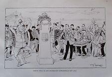 Theo Zasche HORTHY SPIELT ZU DEN UNGARISCHEN KÖNIGSWAHLEN AUF Karikatur um 1924
