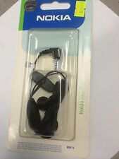 Nokia HDC-5 Wired PHF Mono Headset in Black. Brand New in Original packaging.