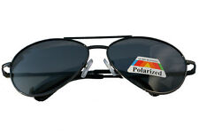 Polarised Black Metal Aviator Sunglasses Driving Mens / Womens UVA / UVB