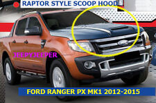 MATTEBLACK RAPTOR HOOD SCOOP BONNET COVER WILDTRAK FORD RANGER MK1 PX 2011-2015