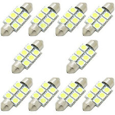 10PCS White 36MM 5050 6SMD Festoon Dome Map Interior LED Light bulbs C5W 6411 KY