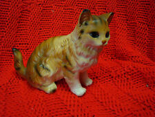 Vintage Lefton Ceramic Sitting Cat Figurine Japan 401423