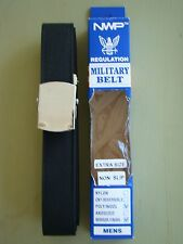USN US NAVY ALL RANKS RATES E1-E6 ENLISTED MANS BLACK BELT WITH SILVER BUCKLE XL