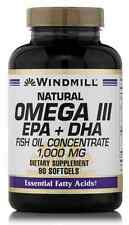 Windmill Natural Omega III EPA + DHA Fish Oil Concentrate 1000 mg 90 Soft Gels