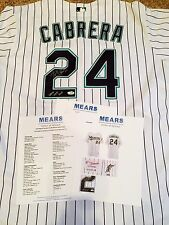 Marlins Miguel Cabrera Game Worn/Used & Signed 2005 Baseball Jersey MEARS 10 LOA