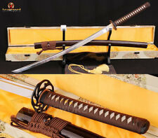 Full Tang Blade Japanese Samurai KATANA High Carbon Steel Sword Sharp Cut Tree