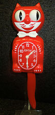 KIT CAT CLOCK  IN  ROSE PARADE COLOR MADE IN THE USA (FREE BATTERIES)