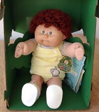 VINTAGE 1985 CABBAGE PATCH KIDS BOY DOLL BROWN HAIR IN BOX COLECO