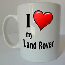 I Love my Land Rover Logo Mug Cup Gift Present Birthday Christmas Fathers Day