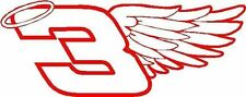 3 Dale Earnhardt Sr. wing Nascar decal sticker