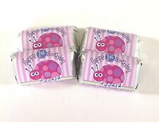 50 LADYBUG 1ST BIRTHDAY MINI CANDY BAR WRAPPERS PARTY FAVORS