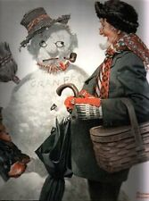 CHRISTMAS SNOWMAN GRANDPA NORMAN ROCKWELL DECEMBER 1919 GRAMPS ENCOUNTERS GRAMPS