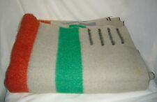 VINTAGE AMERICAN JACOBS OF OREGON ~ MARIPOSA GRAY 4 POINT COLORFUL WOOL BLANKET