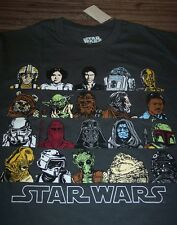STAR WARS RETURN OF THE JEDI T-Shirt LARGE NEW Ewok Yoda Jabba Lando Leia R2D2