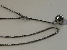 "Silpada 17"" Sterling Silver Filigree Ball Bead Toggle Necklace N1619"
