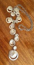 Silpada Circle Disc Necklace Drop Design Sterling 925 Retired N2110 Cha Cha