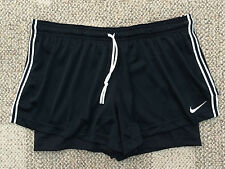 * Womens XL Nike Black Dri-Fit Training Running Athletic Shorts Liner 654772 010