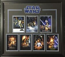 Star Wars All 7 Movie Poster Posters Framed Collage 28X24 Beautiful Suede Cutout