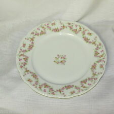 """BRIDAL ROSE UNION T CZECHOSLOVAKIA VINTAGE 9 7/8"""" DINNER PLATE FLORAL SWAGS #2"""