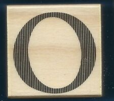 O STENCIL LETTER Alphabet 2x2 Medium Upper Case Wood CRAFT RUBBER STAMP New