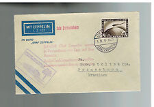 1931 Germany Graf Zeppelin Cover South America Flight LZ 127 to Brazil