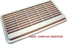 LOUVERED FRIDGE VENT 384 X 203MM LIGHT GREY CARAVAN MOTORHOME BOAT