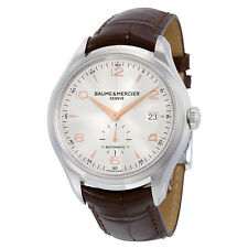 Baume and Mercier Clifton Silver Dial Mens Watch 10054