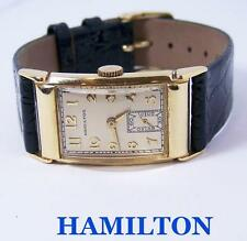 Vintage 14k Gold HAMILTON Winding Watch 1940s Cal 982 EXLNT SERVICED* RARE 43 mm