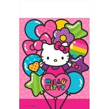 """96"""" x 54"""" Hello Kitty Rainbow Birthday Party Disposable Plastic Table Cover"""