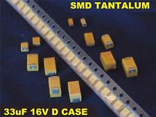 SMD 33uF 33 uF 16v D Case Tantalum Capacitors (100 Pcs) *** NEW ***