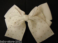 EXTRA  LARGE HAIR BOWS BOUTIQUE PIN ALLIGATOR CLIP BABY GIRLS LADIES RIBBON BOWS