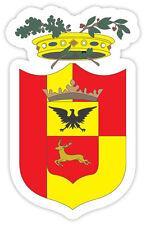 Bergamo stemma coat of arms provincia Italia etichetta sticker 8cm x 12cm