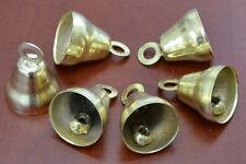 "6 Pcs Handmade Gold Plated Farm Cow Goat Sheep Bells 2"" #T-1324"