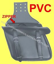 Throw Over Slanted Zip Off Saddlebag PVC w/quick release buckle – 12.5x9x6 in.