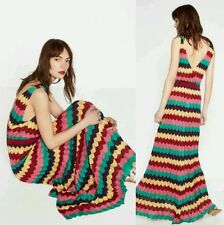 Zara LIMITED EDITION Multicoloured Striped Maxi Dress Size MEDIUM BNWOT