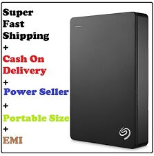 Seagate Backup Plus Slim 4TB Portable External Hard Drive Storage USB3.0 (Black)