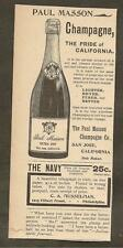 VINTAGE AD FOR PAUL MASSON CHAMPAGNE & COLUMBIA BICYCLES