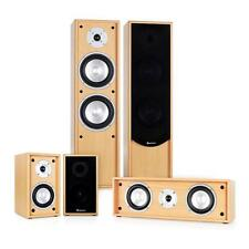 5.0 SURROUND SOUND SYSTEM STAND LAUTSPRECHER SET CENTER HEIMKINO ANLAGE BUCHE